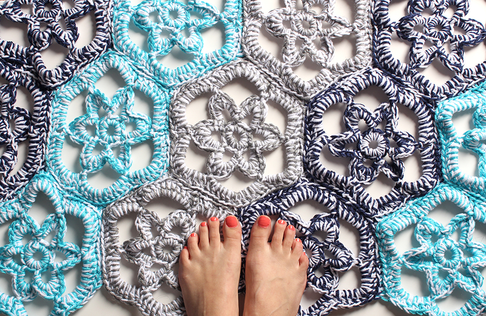 Floral Path Doily Rug Crochet Pattern