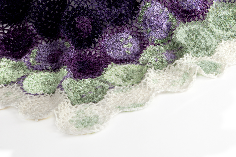 Crochet Blueberry Blanket Pattern with photo tutorial