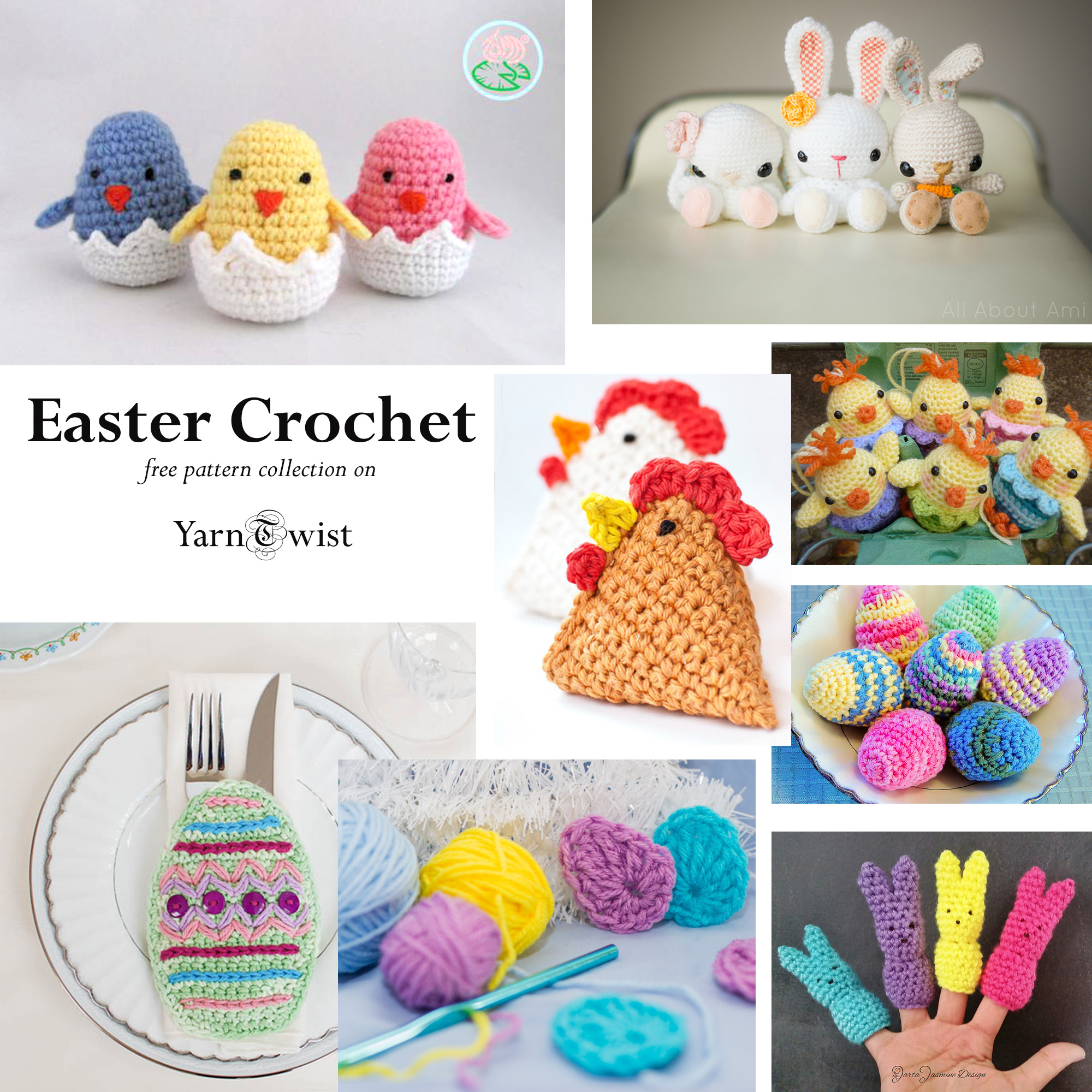 Free Collection of Easter Crochet Patterns – Yarn Twist