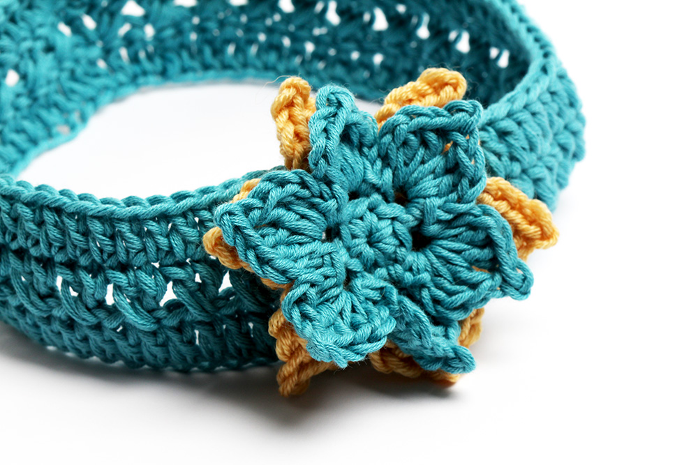 Sayde headband Free crochet pattern and tutorial
