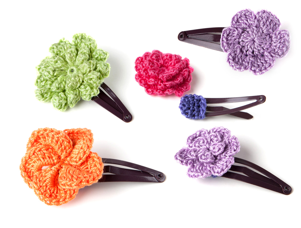 Crochet Hair Clip Pattern Step by Step - Yarn Twist
