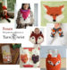 Cute crochet foxes